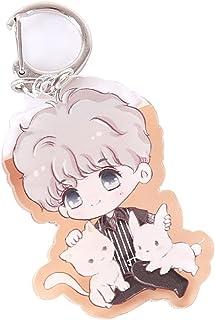 مفتاح سلسلة مخصصة شعار الكرتون الكرتون قلادة نجمة الطرفية شفافة مفتاح سلسلة مخصصة