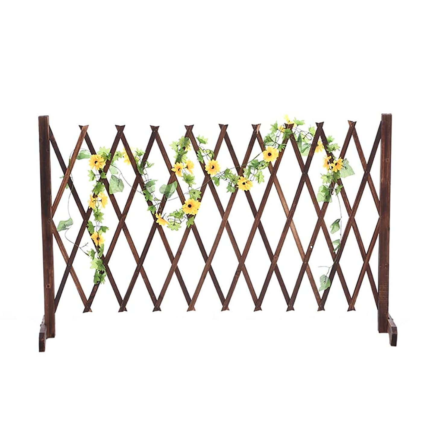 の面では平方論争木製フェンスガーデンテレスコピックフェンスガーデン装飾グリッドフェンス。 (色 : 90*130cm)