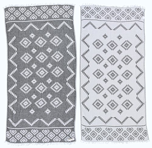 Bersuse 100% Cotton Teotihuacan Dual Layer Turkish Towel - 37x70...