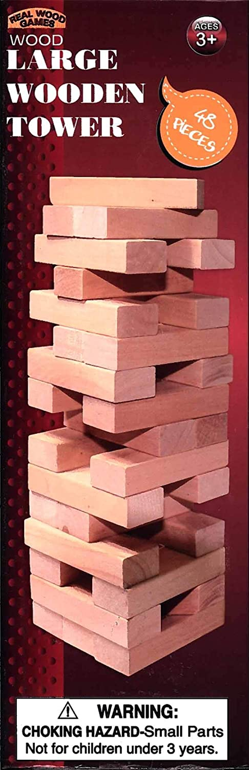Forever Toys Large Wood Pieces 5 ☆ popular Game Tower 48 gift