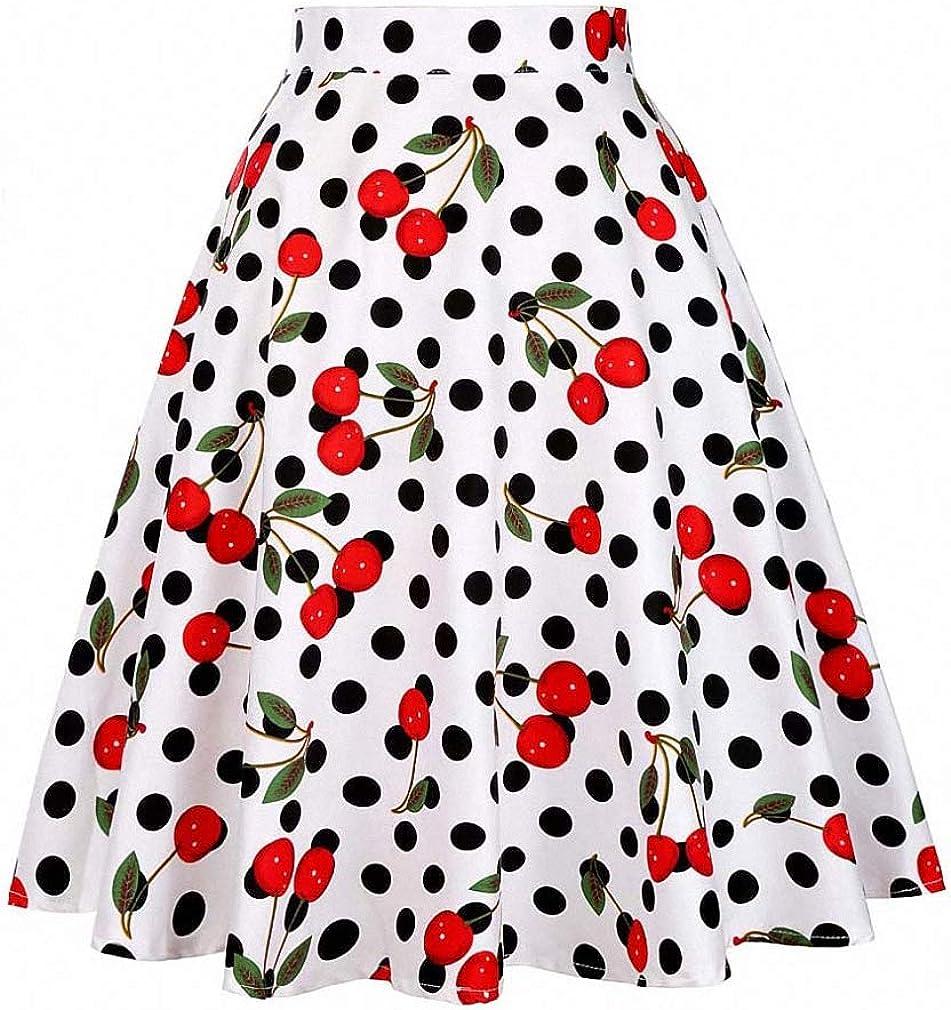 Dawery Black Summer Skirt High Max Max 81% OFF 43% OFF Waist Plus Polk Print Size Floral