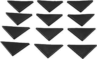 Adanse 12 Pc vorm driehoekige glazen tafel hoek beschermer kussen 10mm x 75mm