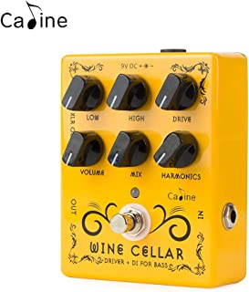 Caline Wine Cellar Driver Guitar Effects Pedal Classic Tube Bass Amp Yellow CP-60