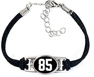 AttitudeArcade Number Charm Bracelet (00-99) Jersey Style in Team Colors (Black & White)