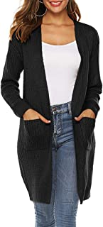 Long Cardigan Sweaters for Women Lightweight Open Front Knit Jumper with Pockets