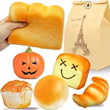 Beestech Jumbo Bread Squishy, Huge Giant Bread Squishies Pack, Cream Scented Slow Rising Squishy Toys for Kids, Boys and Girls, Including Toast Loaf Bread Squishy, Realistic Squishy Food
