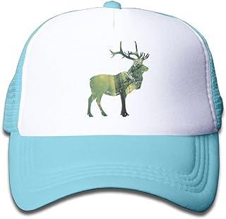 80622ba0 Kocvbng I Forest Mist Deer Girls Snapback Mesh Baseball Hat Youth Size Cap