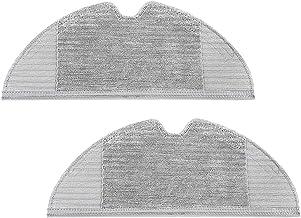 Jorllina 2Pcs Microfiber Mopping Cloth for Roborock S6, S6 Pure, E4, S6 MaxV, S5 Max, S5, E35 and E2 Robot Vacuum