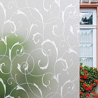 LEMON CLOUD No Glue Privacy Window Film Door Sticker Glass Film 35.4in. by 78.7in. (90cm by 200cm)