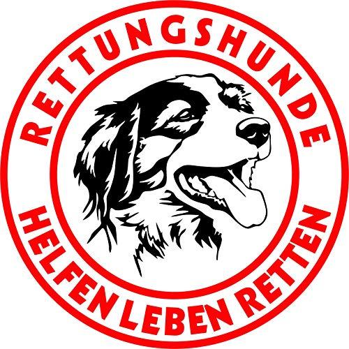 Holashirts Mallorca Kooiker Kooikerhondje Border Collie Aussie Spaniel Rettungshund Auto-Folien-Aufkleber Hundeaufkleber Sticker (Ø150mm)