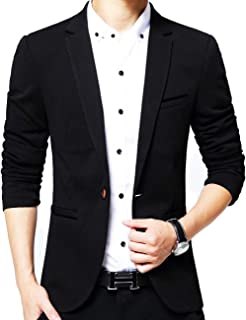 GEEK LIGHTING Slim Fit Single One Button Blazer Jackets for Men