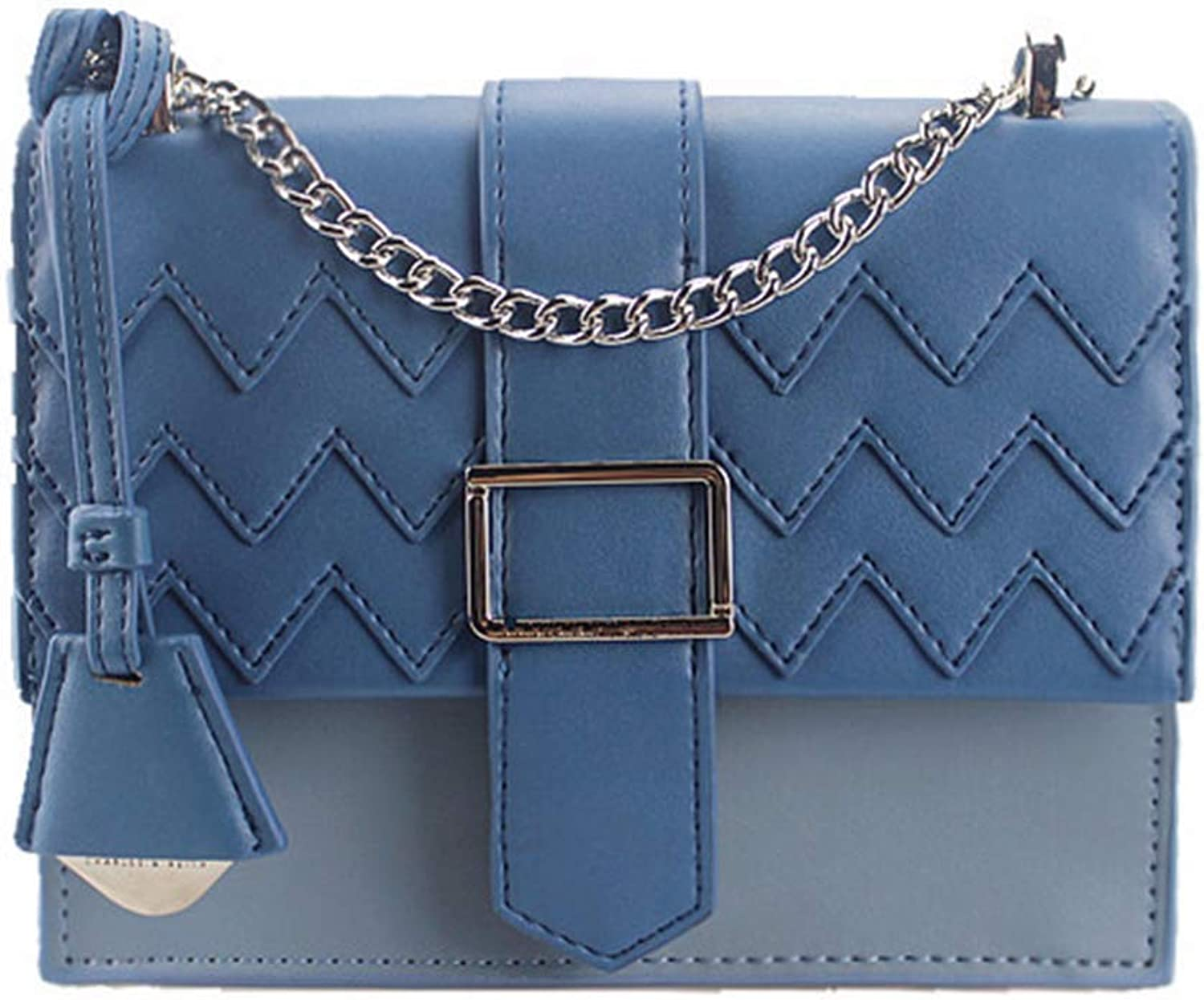 Agnes Ladies Europe and America Trend Fashion Joker Chain Retro Water Ripple Crosscbody One Shoulder Tote