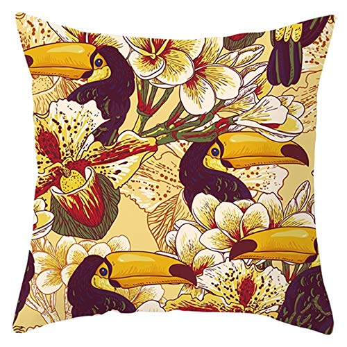 Socoz Kissenbezug für Kinderbett, Polyester, Spitze mit Blättern, Gelb und Grün, Kissenbezüge