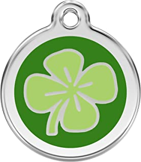 Red Dingo Personalized Clover Pet ID Dog Tag