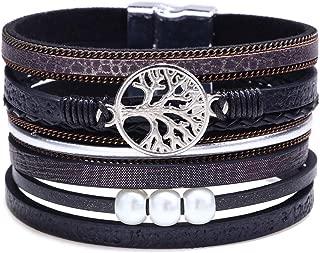 Bangle Wrap Bracelets for Women - Multilayer Bracelets Boho with Beads, Gift Ideas for Teen Girls
