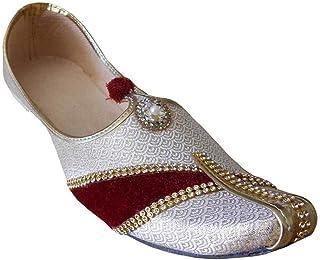 511654233df3 Kalra Creations Mojari Wedding Groom Handmade Jutti Men Shoes Indian  Flip-Flops Handmade