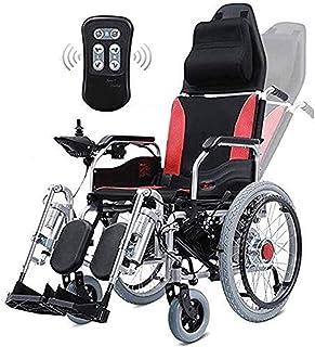 De peso ligero plegable sillas de ruedas eléctricas Silla de ruedas eléctrica for trabajo pesado con el apoyo for la cabeza, plegable plegable y Powerchair portátiles ligeros con mando a distancia, en