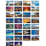 30 Pcs Tarjetas Postales Artísticas Postales Foto Tarjetas de Regalo de Souvenirs de Viaje, alrededor del mundo 2