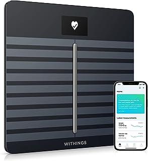 باتری / نوکیا | بدن قلب - سلامت بدن و ترکیب بدن مقیاس Wi-Fi دیجیتال با برنامه گوشی های هوشمند، سیاه