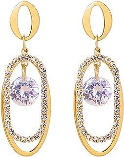 Pendientes Pendientes de anillo geométrico exquisita moda popular temperamento clásico estilo largo pendientes de moda ind...