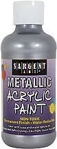 Sargent Art 25-2382 8-Ounce Metallic Acrylic Paint, Silver