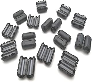 GFORTUN 10pcs Clip-on Ferrite Filter Coil Filter Ring Cores Coil Cable Clips RFI EMI Noise Suppressor UF90B for 9mm Inner Diameter Audio Cable