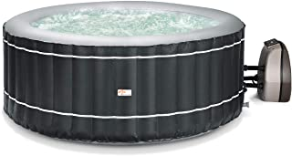 Goplus 4-6 Person Inflatable Hot Tub Portable Outdoor Spa Bubble Jet Massage Spa w/Accessories Set (4-Person, Gray)
