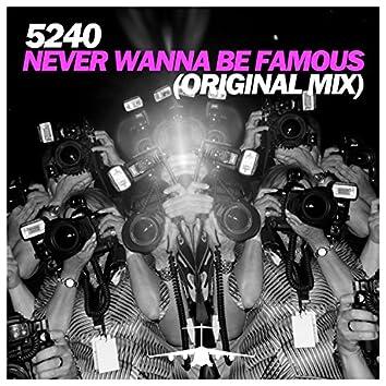 Never Wanna Be Famous (Original Mix)