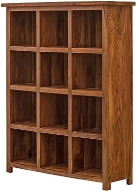 Naturehood Wooden Bookcase/Book Shelf ✮100% Sheesham Wood Furniture ✮ Finest Polishing in Class (PETRICHOR Collection)