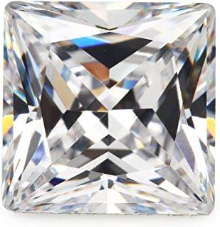 50pcs Size 5x5mm 5A White Square Shape Princess Cut Europe Machine Cut Loose CZ Cubic Zirconia Gemstone JIANGYUANGEMS