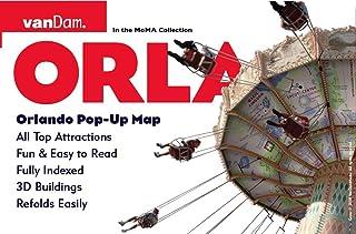 Orlando Pop-Up Map by VanDam -- City Street Map of Orlando, FL -- Laminated folding pocket resort map with Walt Disney Wor...
