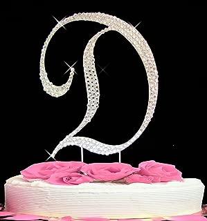 Letter D - Swarovski Crystal Monogram Wedding Cake Topper Letter