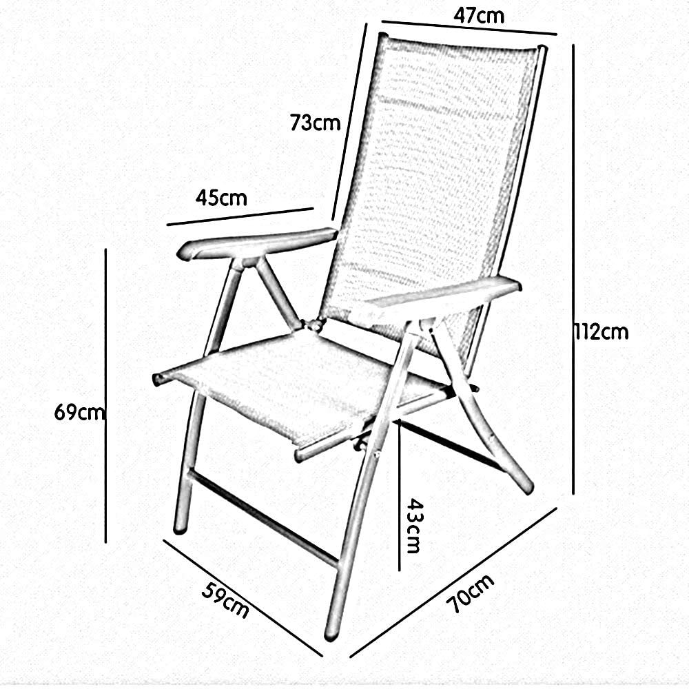 YLCJ Fauteuil inclinable surdimensionné pour Chaise Longue sur Chaise Longue Zero Gravity pour Un Support extérieur Pliable (200 kg) (Couleur: Gris + Bleu Mat) Black+blue Pad