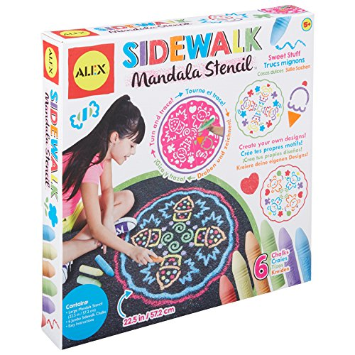 Alex Art Sidewalk Mandala Sweet Stuff, Multicolor