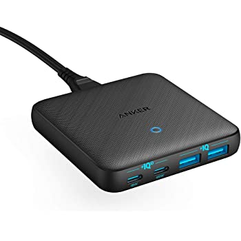 Anker PowerPort Atom III 63W Slim (PD 充電器 4ポート USB-C 急速充電器)【PPS規格対応 / PD対応 / PowerIQ 3.0 (Gen2)搭載 / GaN(窒素ガリウム)採用】MacBook iPad Pro iPhone Galaxy Pixel その他USB-C機器対応