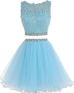 Best light blue two piece prom dress Reviews