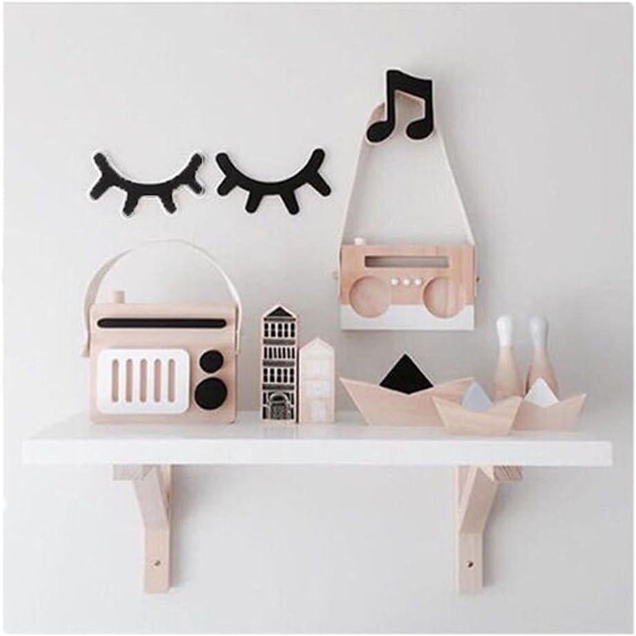 2x Wall Decor Wooden Sleepy Eyes Infant Nursery Baby Kids Bedroom Decor Eyelash