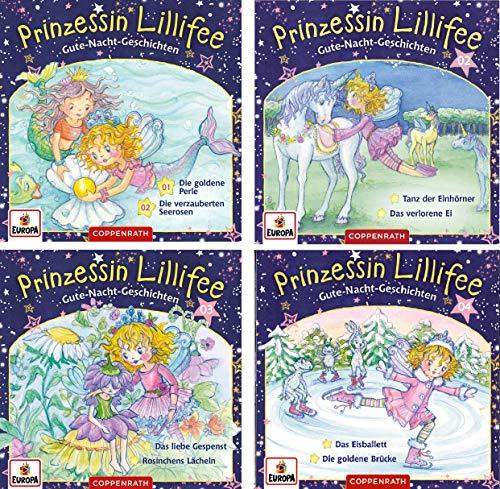 Prinzessin Lillifee - Gute Nacht Geschichten CD 1-4 im Set - Deutsche Originalware [4 CDs]