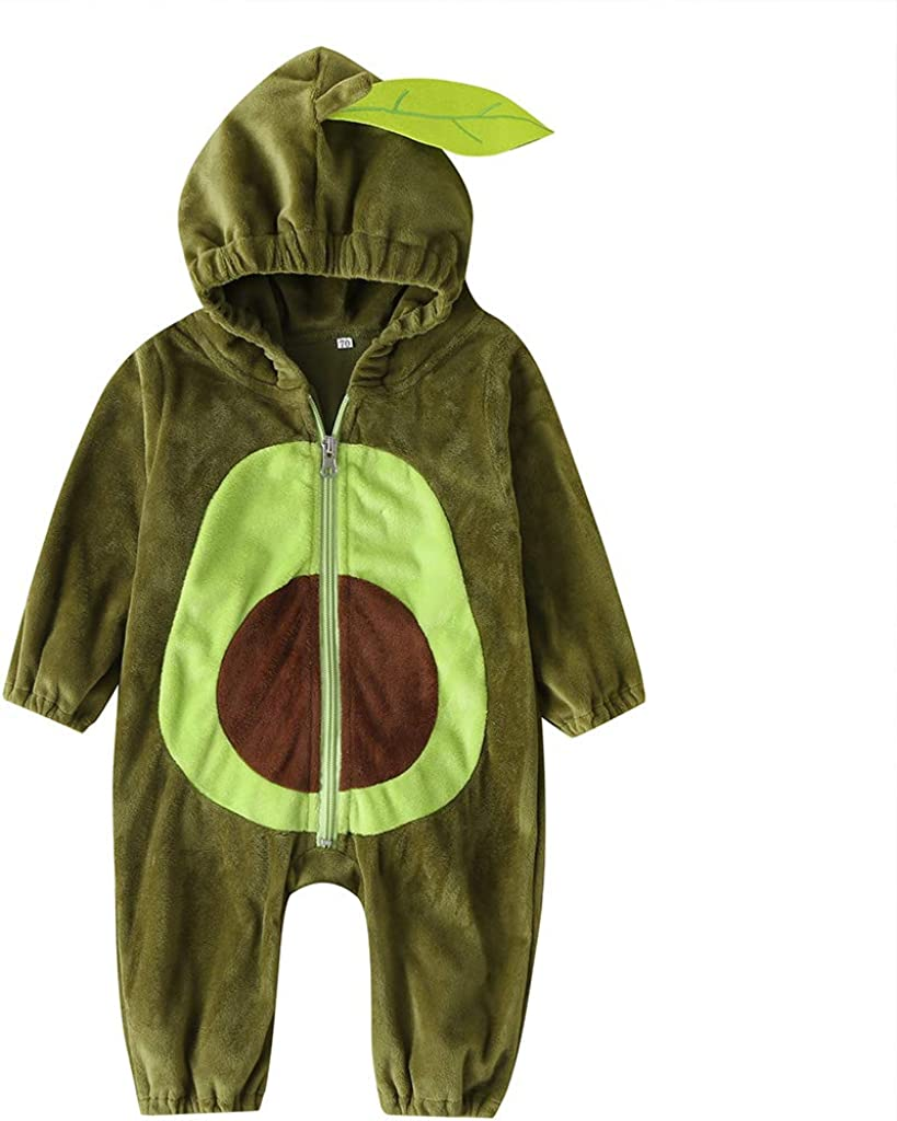 Unisex Toddler Baby Halloween Avocado Costum Costume Velvet Ranking TOP15 Cute Surprise price