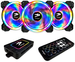 Archgon RGB Radiator Fan CPU Cooler with Bright LED Colors for PC Case, 120 mm Design Fan with Quiet Blades for PC Gaming, PWM Function (3 in 1, 366 Lighting Mode)