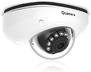Q-camera CáMara De Seguridad Tipo CúPula 1080P 2MP Tvi/Cvi /Ahd/Cvbs 1/2.9 Sensor 2.8Mm Lente DíA Noche 33 Pies Audio Incorporado IR VisióN Nocturna CáMara De Sistema De Vigilancia para Interiores