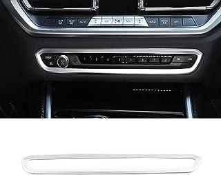DIYUCAR ABS Chrom Auto Kontrollknopf, dekorativer Rahmen für G20, G28, 325li, 3er Serie, 2019, 2020 Zubehör