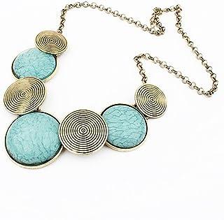 LUFA Collana della catena delle ragazze delle donne Retro rotonda del maglione del pendente della collana del pendente