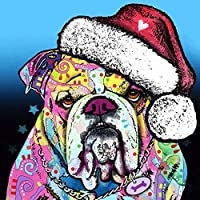 大人のための1500ピースパズル-クリスマスの帽子をかぶった犬ジグソーパズル-楽しいパズル教育家族ゲームおもちゃ大人のためのギフト10代87.5×57.5cm