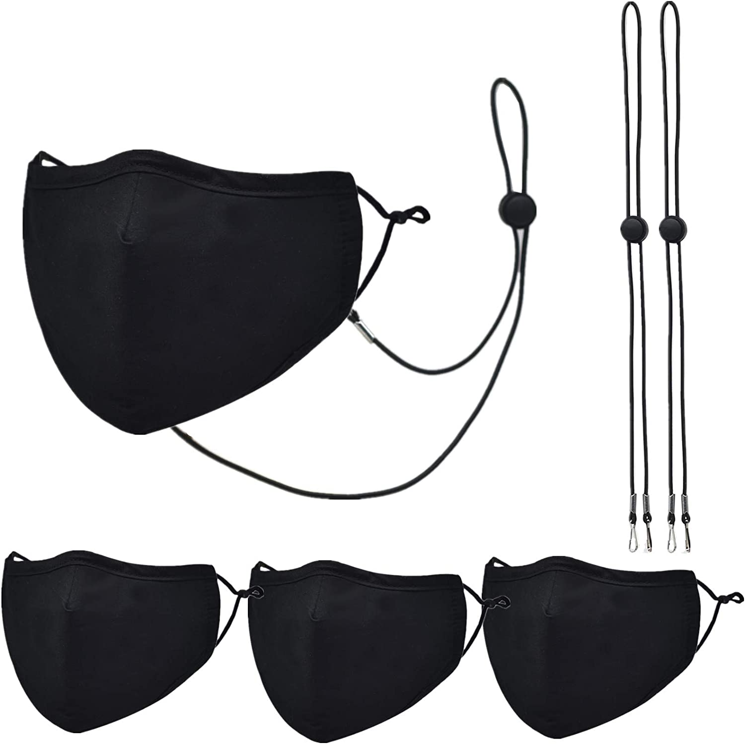3 Packs unisex Cotton Face Mask,Adjustable Washable Popular product R and Earloop