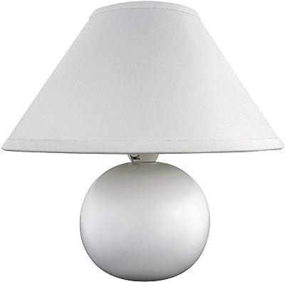 Rabalux 4901, Ariel Lampe de Table, Céramique, 40Watts, E14, Blanc, 20x 20x 19cm