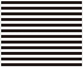 Allenjoy 10x8ft Fabric Black and White Stripes Backdrop for Birthday Wedding Party Dessert Table Decor Studio Photography Pictures DIY Photo Booth Striped Banner Background Baby Bridal Shower Newborn