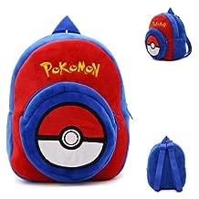 Pikachu Plush Backpacks, Children Infant Mochila 3d Kids School Bags ,mini Preschool Bag Gift For 1-3 Year 3 (Color : 3)