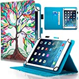 Dteck 7.5-8.5 Zoll Universal Hülle mit [Stylus Pen], Stand Wallet Leder Slim Cover für iPad Mini/Galaxy Tab/HD 8 Zoll /Huawei/Lenovo/LG G Pad/Nook/Onn 7.8/8.3/8.4 8.5 Zoll Tablet, Life Tree