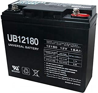 Universal Power Group UB12180 12V 18AH SLA Internal Thread Battery for Craftsman Black Lawn Mower
